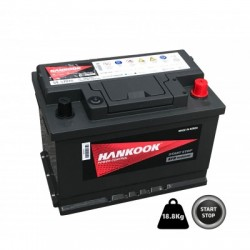 BATTERIE DEMARRAGE MICRO HYBRIDE EFB STOP AND START 12V 70Ah-650A HANKOOK