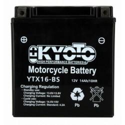 BATTERIE MOTO 12V 14Ah YTX16-BS / 712172