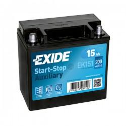 BATTERIE MICRO HYBRIDE 12V 15Ah-200A EXIDE