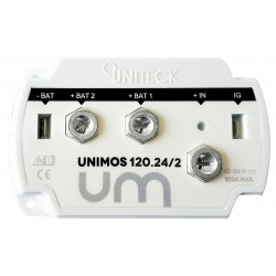 REPARTITEUR DE CHARGE 12/24V - 120A - 2 SORTIES UNIMOS 120.24/2