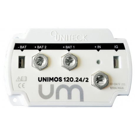 REPARTITEUR DE CHARGE 12/24V - 120A - 2 SORTIES UNIMOS 120.24/2