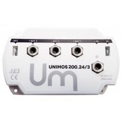 REPARTITEUR DE CHARGE 12.24V - 200A - 3 sorties UNIMOS 200.24/3