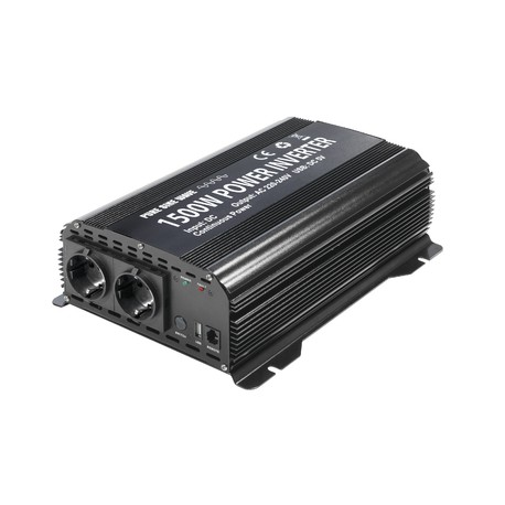 CONVERTISSEUR PSW 1500W - 12V 230V 1500W PURE WAVE + TELECOMMANDE DE SURVEILLANCE