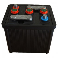 BATTERIE DEMARRAGE 6V 60Ah-300A Ébonite